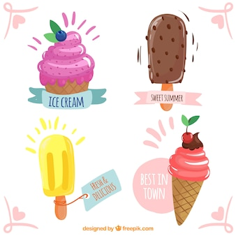Coleção de design de sorvete