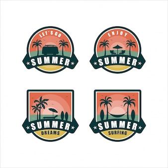 Coleção de design de verão dreamsbadge