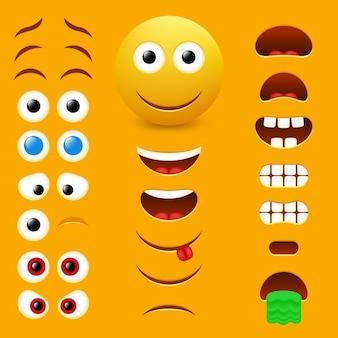 Coleção de design do criador de emoji