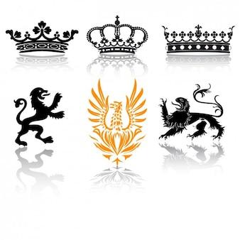 Coleção de design emblemas