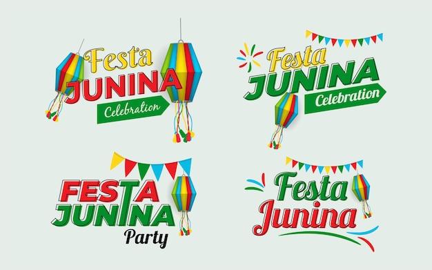 Coleção de design festa junina
