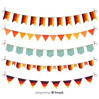 Coleção de design plano de festão oktoberfest