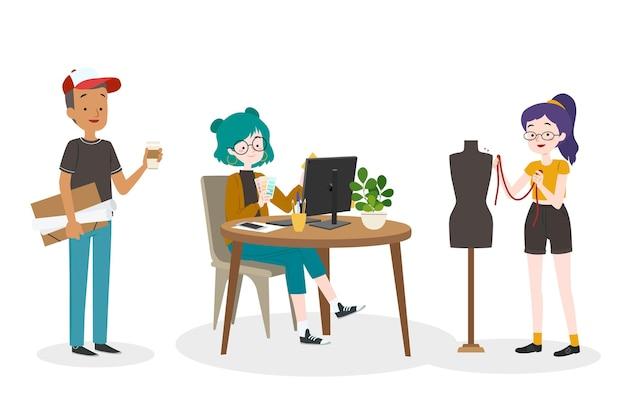Coleção de designers ilustrados