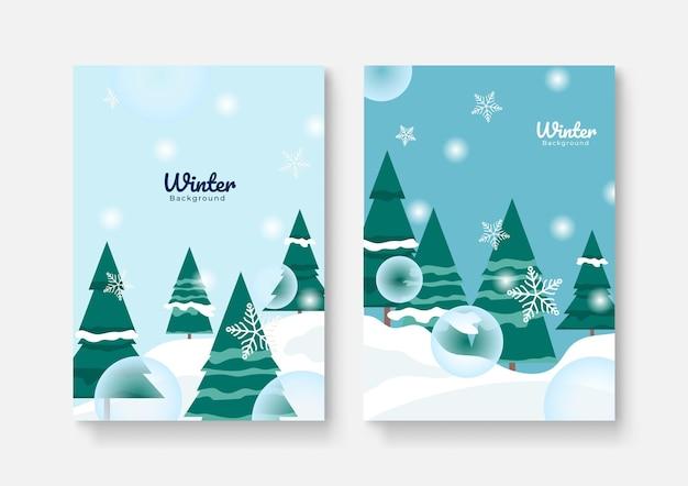 Coleção de designs abstratos, venda de inverno, conteúdo promocional de mídia social. ilustração vetorial