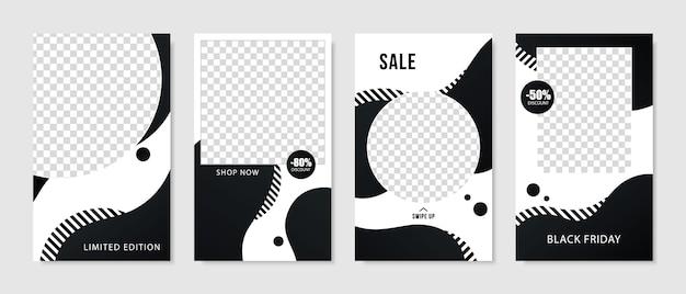 Coleção de designs de venda para conteúdo exclusivo.