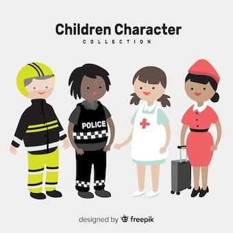 Coleção de dia das crianças de empregos