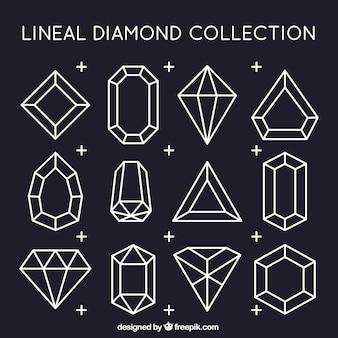 Coleção de diamantes lineares
