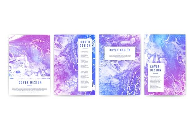Coleção de diferentes designs de capa