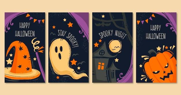 Coleção de diferentes histórias de halloween