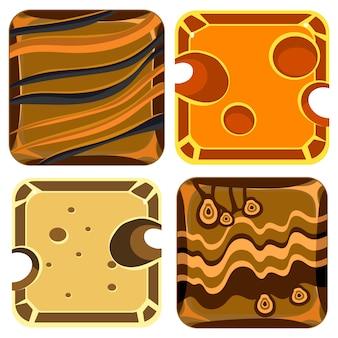 Coleção de diferentes materiais e texturas
