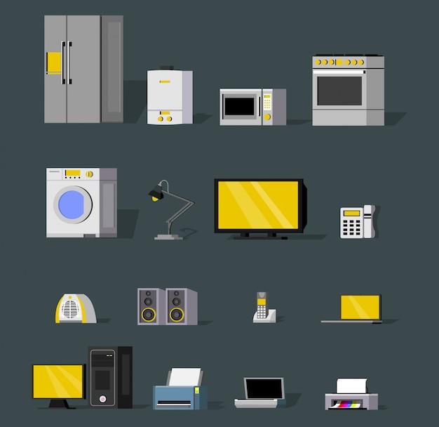 Coleção de dispositivos sem fio modernos