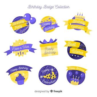 Coleção de distintivo de aniversário
