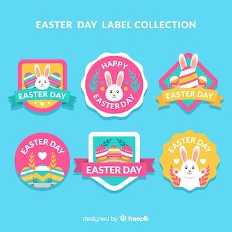 Coleção de distintivo de dia de páscoa