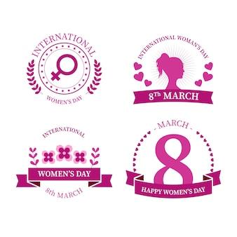 Coleção de distintivo de dia internacional da mulher
