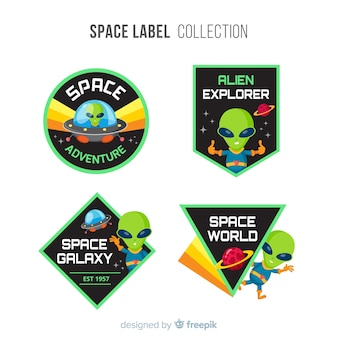 Coleção de distintivo de espaço