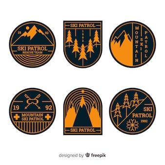 Coleção de distintivo de esporte de inverno
