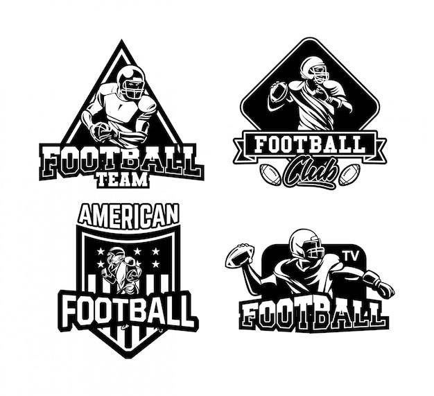 Coleção de distintivo de futebol americano