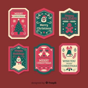 Coleção de distintivo de natal vintage