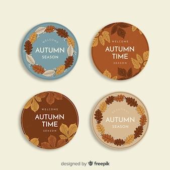 Coleção de distintivo de outono vintage