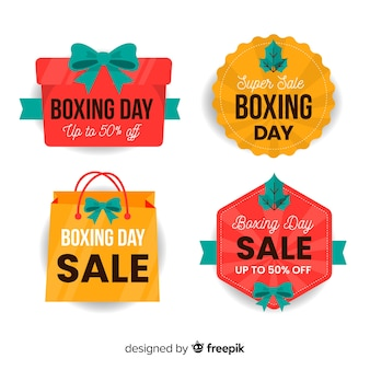 Coleção de distintivo de venda de dia de boxe