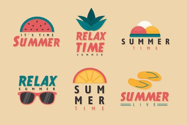Coleção de distintivo de verão