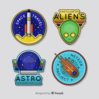 Coleção de distintivos astronômicos