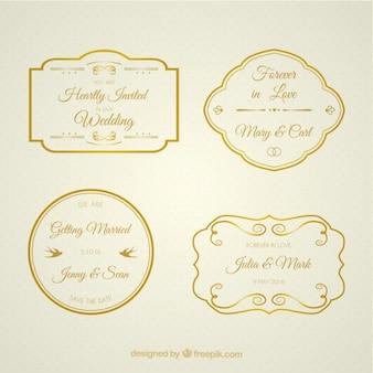Coleção de distintivos bodas de ouro