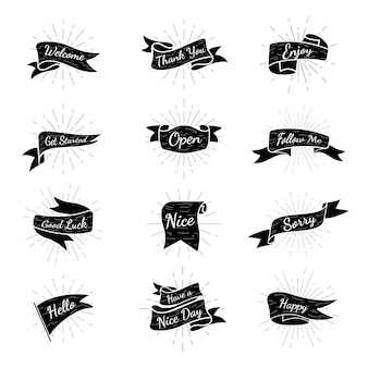 Coleção de distintivos de banner