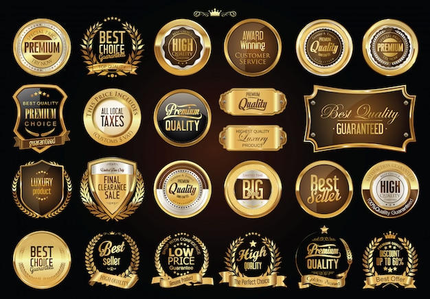 Coleção de distintivos de ouro
