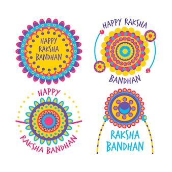 Coleção de distintivos de raksha bandhan