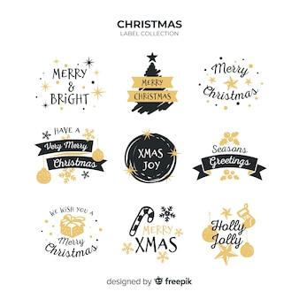 Coleção de distintivos de saudação de Natal