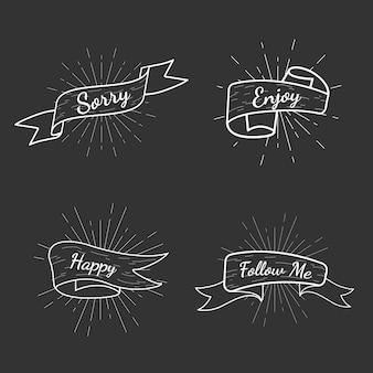 Coleção de distintivos de texto de banner