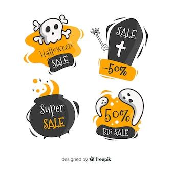 Coleção de distintivos de venda de halloween