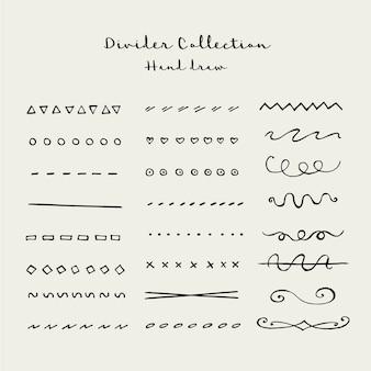 Coleção de divisor de mão desenhar