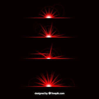 Coleção de divisor de reflexo de lente vermelha