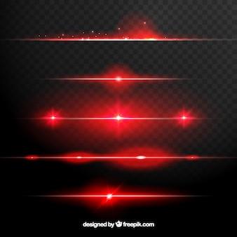 Coleção de divisores de reflexo de lente vermelha