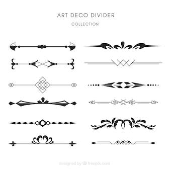 Coleção de divisores em estilo art déco