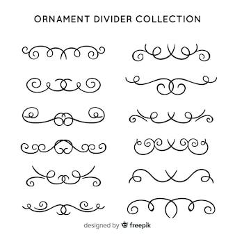Coleção de divisória de ornamento clássico