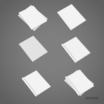 Coleção de documentos brancos