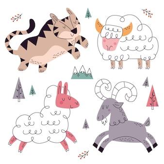 Coleção de doodle desenhado à mão