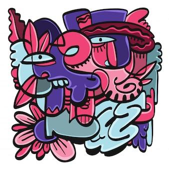 Coleção de doodle desenhado de mão.