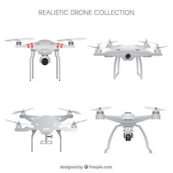 Coleção de drone com estilo realista