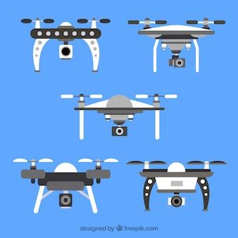 Coleção de drones com estilo profissional