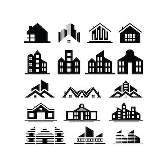 Coleção de edificações e imóveis
