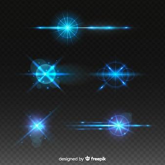 Coleção de efeito de luz de tecnologia