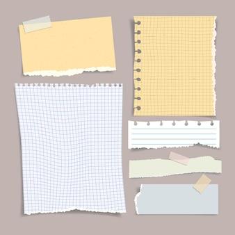 Coleção de efeito de papel rasgado