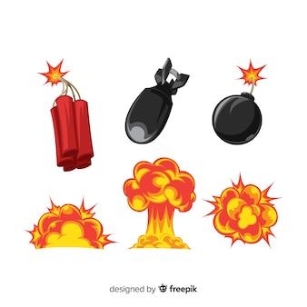 Coleção de efeitos de explosão dos desenhos animados