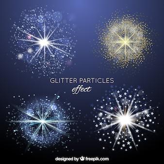 Coleção de efeitos de partículas de brilho