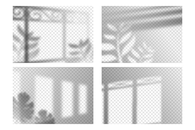 Coleção de efeitos de sobreposição de sombras transparentes