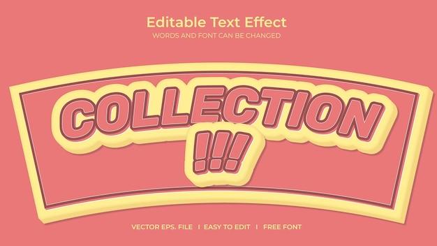 Coleção de efeitos de texto